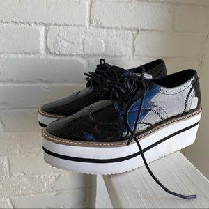 Steve Madden Platform Dress Shoes Black Sz 7 Rare